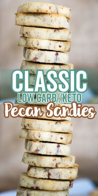 YUMMY KETO SHORTBREAD COOKIES | PECAN SANDIES RECIPE