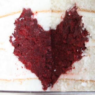heart cake close-up