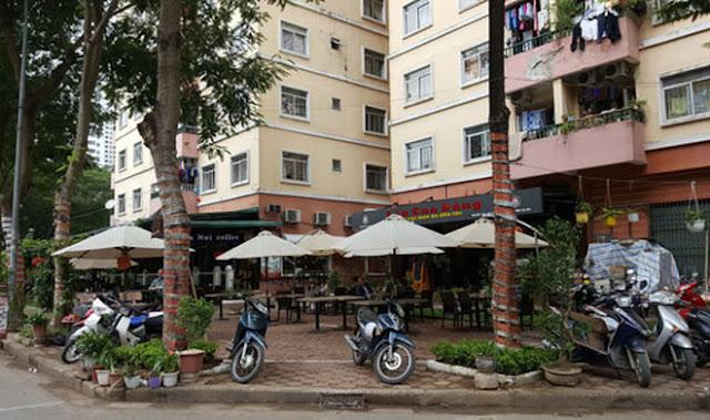 Cảnh quan chung cư khu đô thị Linh Đàm
