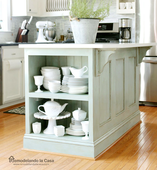 Kitchen Island Painted ASCP-Duck Egg Blue - Remodelando la Casa on painting kitchen design ideas, lowe's kitchen paint ideas, cheap kitchen update ideas, prices range hood island ideas, painting bedroom ideas, painting family room ideas, painting kitchen appliances, painting pool ideas, painting dresser ideas, painting storage ideas, painting pantry ideas, painting garage ideas, painting office ideas, painting walk in closet ideas, painting bar stools ideas, painting living room ideas, painting kitchen decor ideas, painting entertainment center ideas, painting mud room ideas, painting kitchen tables,
