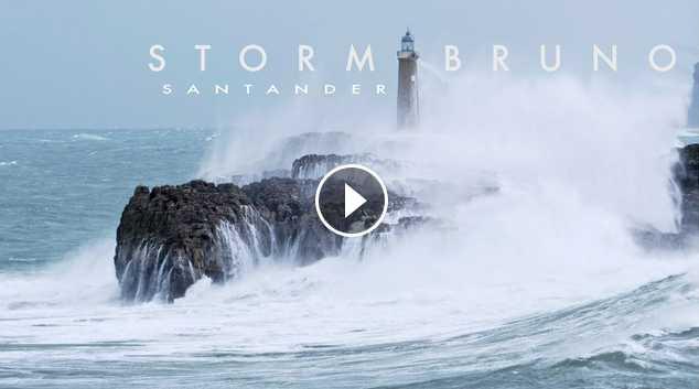 Storm Bruno Hits Santander December 2017