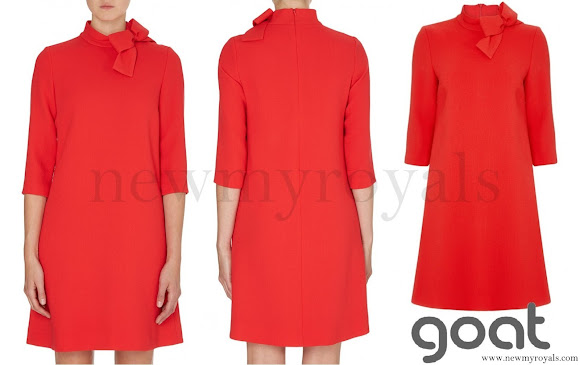 Princess Sofia wore Goat ava dress in red