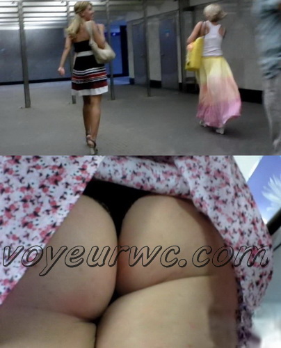 Upskirts 3414-3436 (Upskirts Voyeur Escalator - Upskirts clips with babes in short dresses)