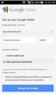 ubah alamat google wallet