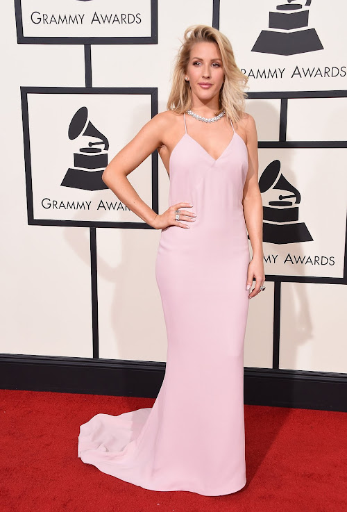 Ellie Goulding from the 2016 Grammys red carpet