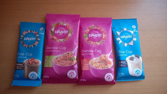 4 verschiedene Produkte der Firma Davert.