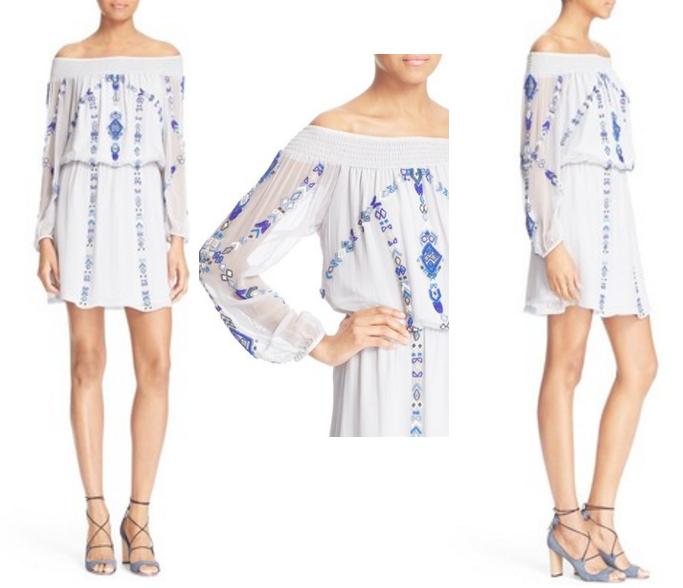 Parker Embellished Off the Shoulder Dress, Off shoulder dresses for Summer, Off shoulder dress, How to wear off shoulder dresses