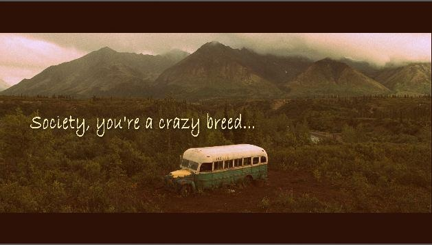 into the wild and as you