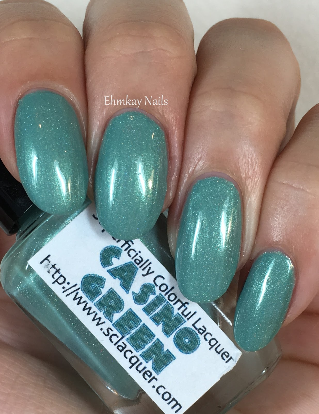 Ehmkay Nails Happy New Year S Eve Nail Art Stamping: Ehmkay Nails: Superficially Colorful Green Casino