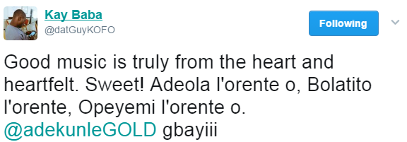 "Adekunle Gold Confesses He Wrote ""Orente"" Song For Simi"