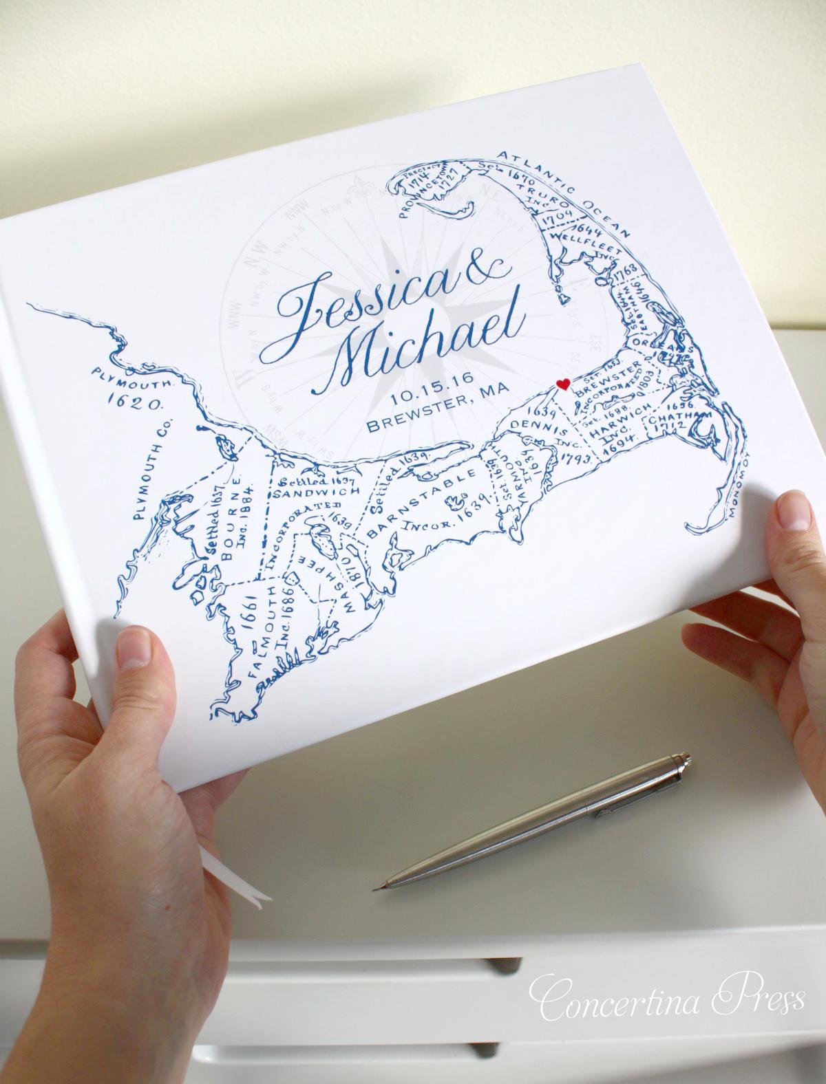 Cape Cod Guestbook - Cape Cod Guest Book from Concertina Press