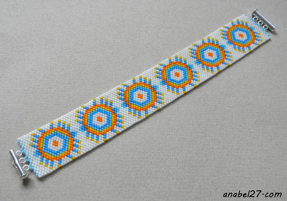peyote bracelet beadwork bead cuff jewelry anabel