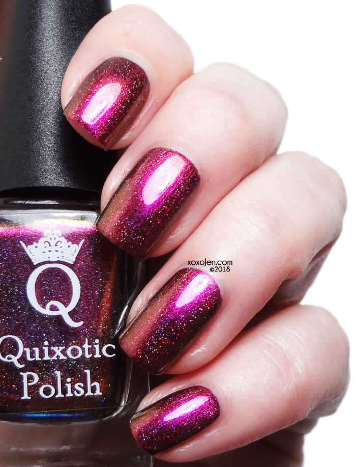 xoxoJen's swatch of Quixotic polish Together we can beat this