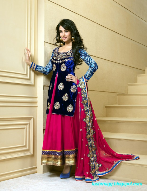 Fashion Mag Anarkali Fancy Embroidered Frocks 2013