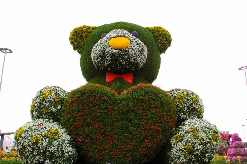 Floral Teddy in Miracle Garden, Dubai