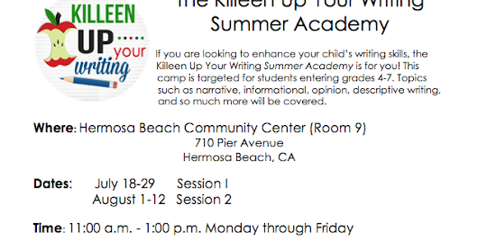 Killeen Up Your Writing: Summer Writing Academy