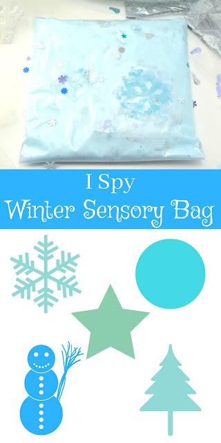 winter sensory bag