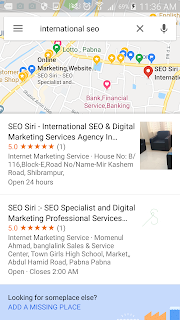 "international targeted keywords phrase "" international seo "" top local 3 packs result on Google Maps"