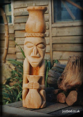 Shaman Wood Carving in Oak from Justbod