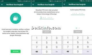 memasukkan PIN untuk verifikasi 2 langkah WhatsApp