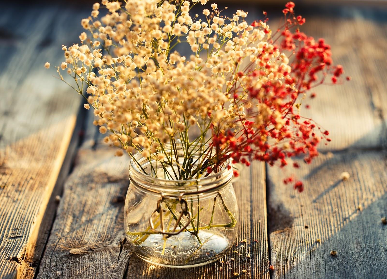 Decoraci n con flores secas naturales revista tendenciadeco - Adornos flores secas ...
