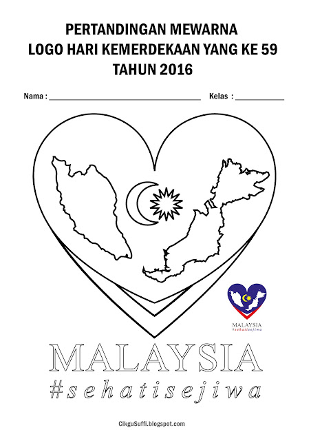 Mari mewarna logo hari kebangsaan 2016