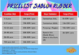 Harga Sablon Rubber - Desainerkaos.com