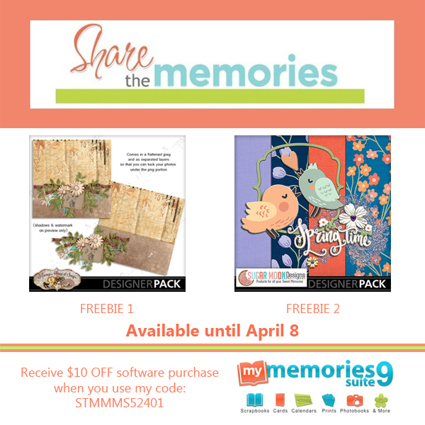 Share the Memories Freebies