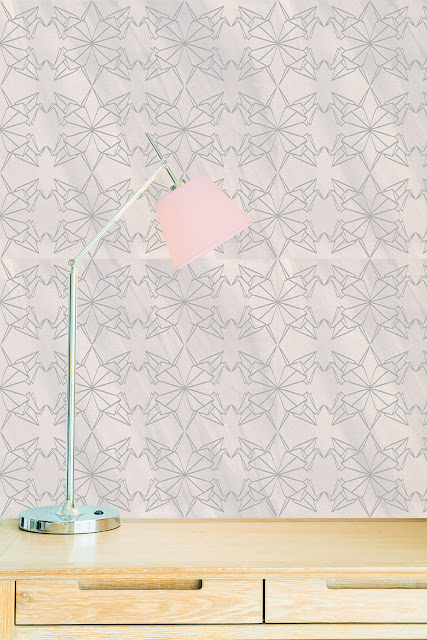Origami Cranes Pattern Wall by welaughindoors