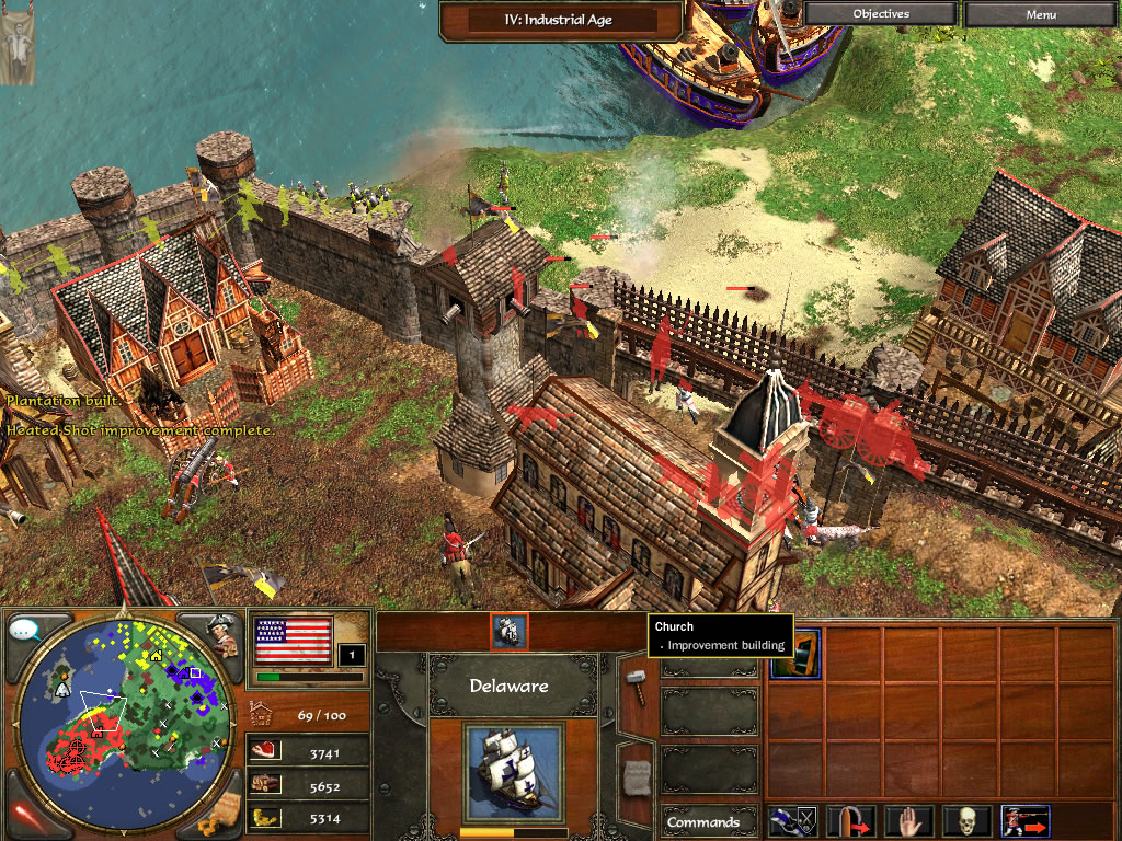 Age of Empires focused on events in Europe, Africa and Asia, spanning from the Stone Age to the Iron Age; the expansion game explored the formation and expansion of the Roman Empire.