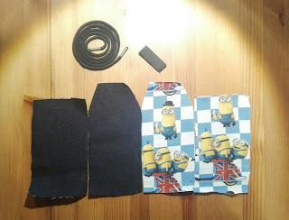 Kännykkäpussin ompeluohje - leikkuu
