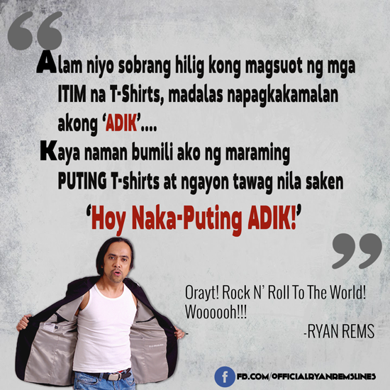 "Comedy Quotes Tagalog Version: Ryan Rems Funny One Lines, Quotes, Jokes ""Rock N' Roll To"