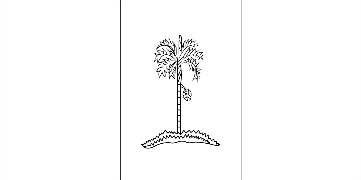 Gambar Mewarna Bendera Pulau Pinang
