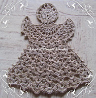 crochet angel motif