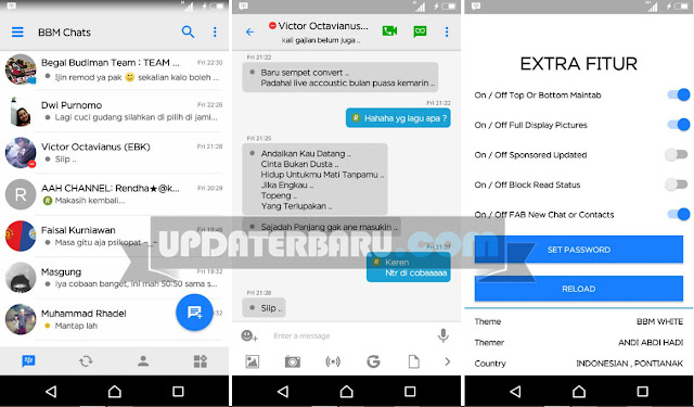 download BBM Mod Tema White Iphone Style Versi 3.0.0.18 Apk Terbaru