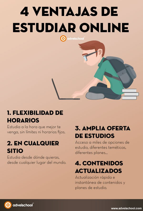 4 ventajas de estudiar online