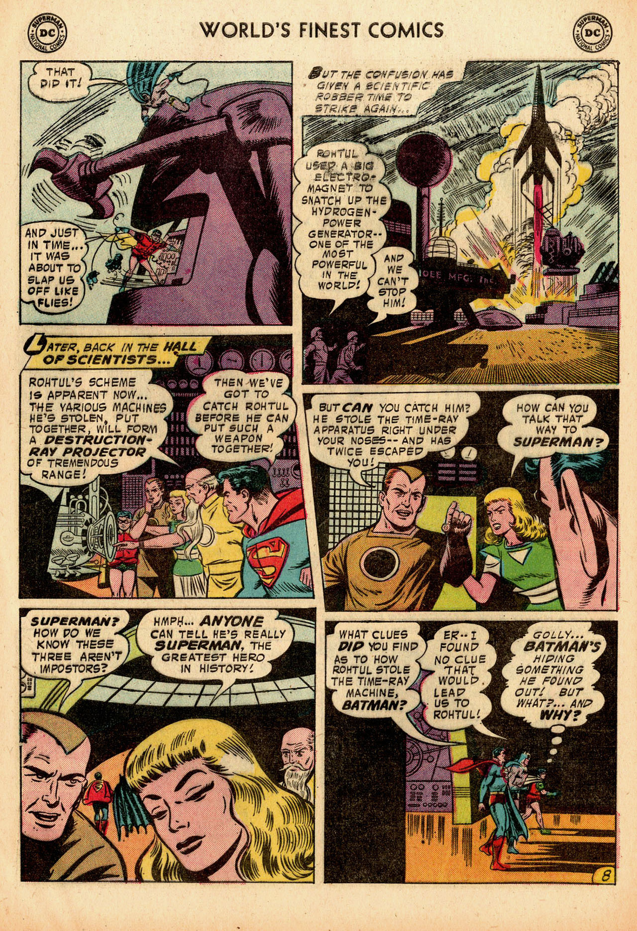 Read online World's Finest Comics comic -  Issue #91 - 10