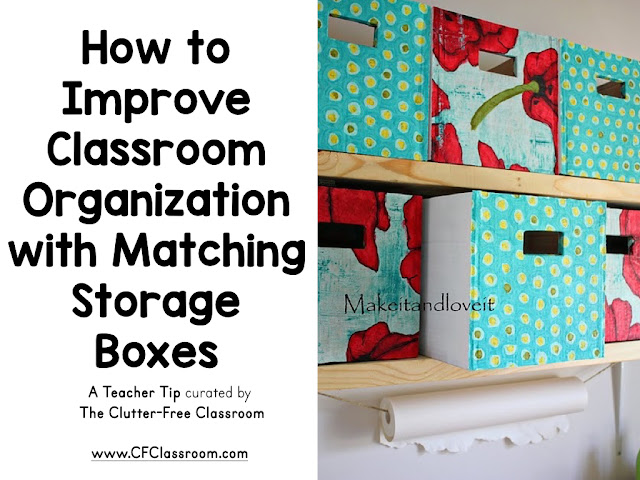 Teachers can save money and still have great storage containers. This cheap container idea will get your classroom organized and looking beautiful.