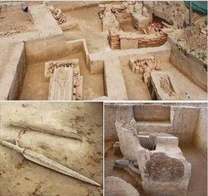 पुरातत्व विभाग को उत्तर प्रदेश के सनौली मे 4000 वर्ष पुरानी कब्रागाह के अवशेष मिले....
