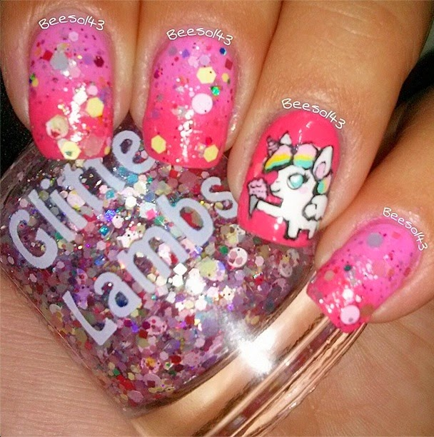 Cotton Candy Nail Polish Color: Glitter Lambs: Unicorns Love Cotton Candy Glitter Topper