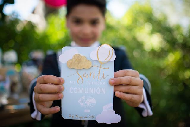 primera comunion inspirada en la pelicula Up - Blog La Comunion de Noa