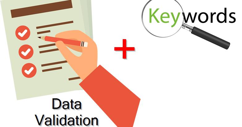 Vba tips excel v - Excel Potion Data Validation Dengan Kata Kunci