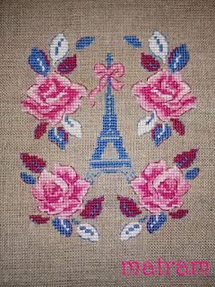 cross stitch book cover roses