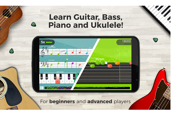 yousician free learn guitar bass piano ukelele
