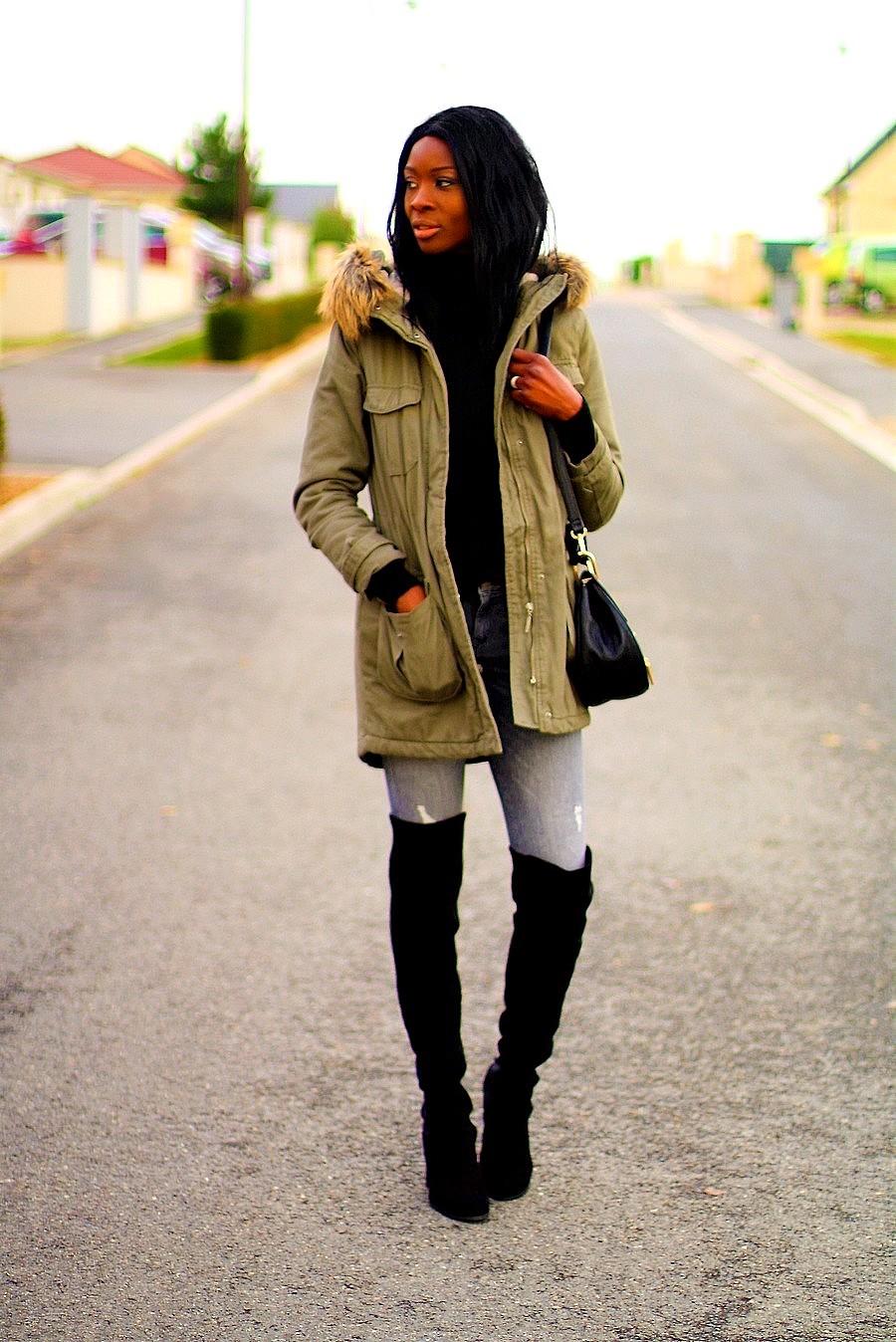 parka-kaki-overknees-chloe-drew-bag-blogger-style