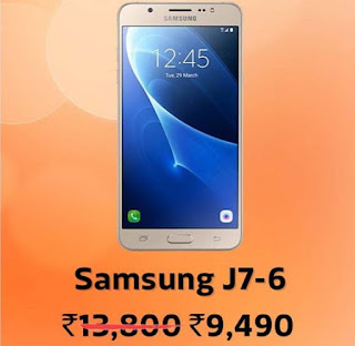 Samsung J7-6 @ ₹9,490/- + 10% Instant Discount with HDFC Bank Debit & Credit Cards