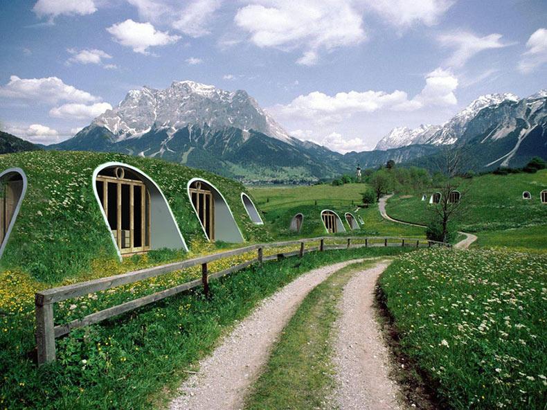 Ahora podrias vivir en una home Hobbit que te tomara exclusivamente 3 días en ensamblarla