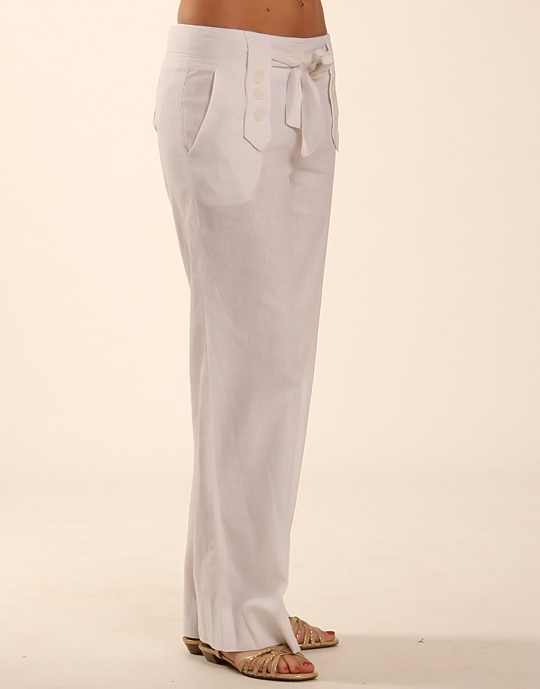 Fashion Review: White Linen Trousers