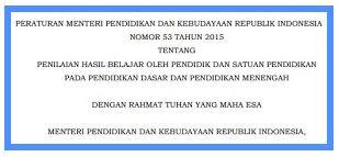 Download Permendikbud Nomor 53 Tentang Penilaian, https://gurujumi.blogspot.com/