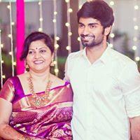 Atharvaa with mother Shoba